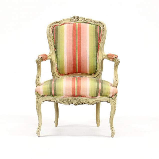 antique-louis-xv-style-carved-and-painted-fauteuil
