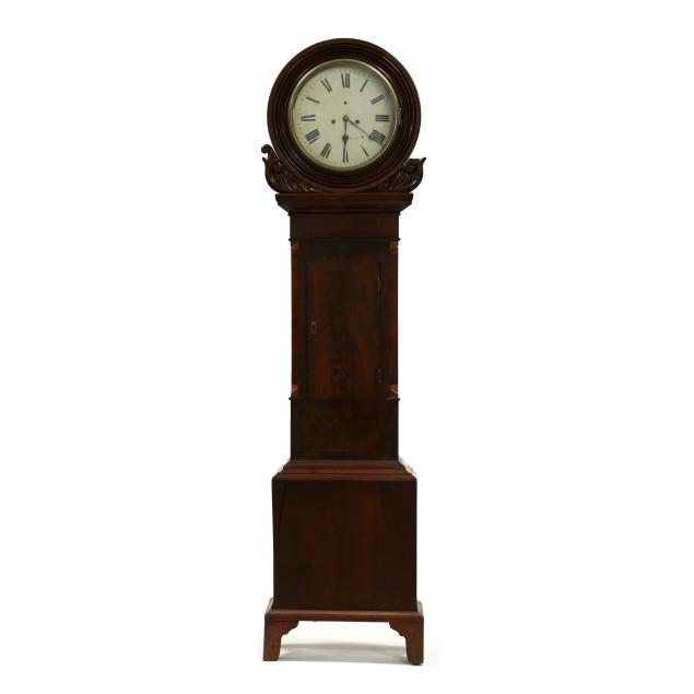 antique-scottish-mahogany-tall-case-clock