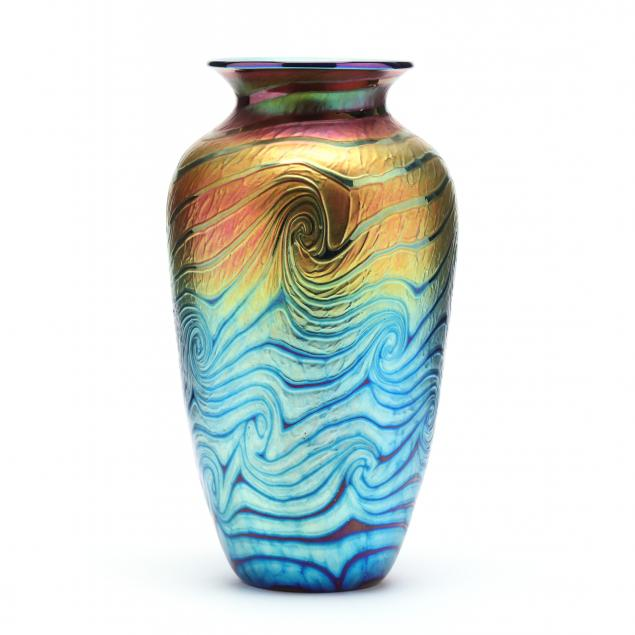lundberg-studios-van-gogh-sunset-large-glass-vase