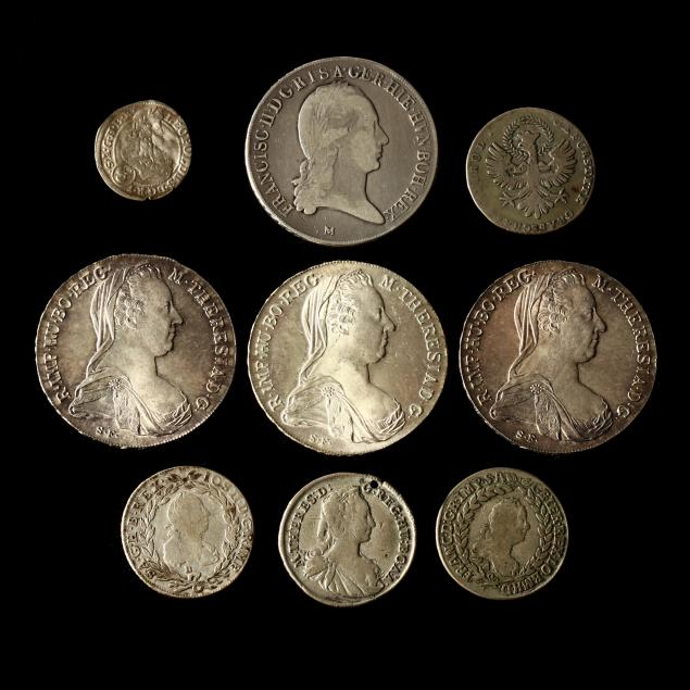 austrian-empire-nine-historic-silver-coins