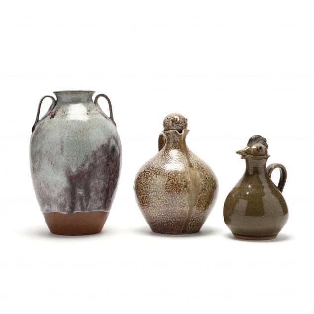 three-nc-pottery-items-from-jugtown