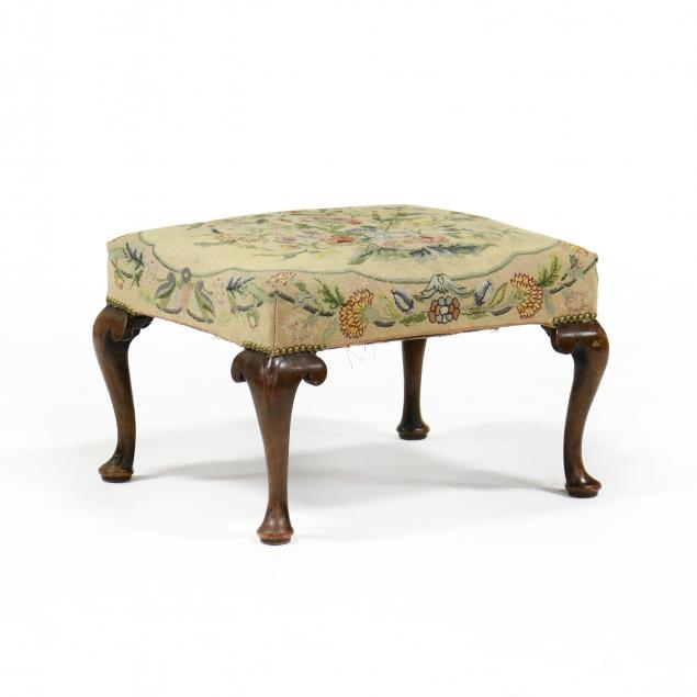 queen-anne-style-mahogany-upholstered-foot-stool