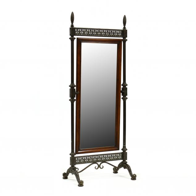 continental-bronze-and-mahogany-cheval-mirror
