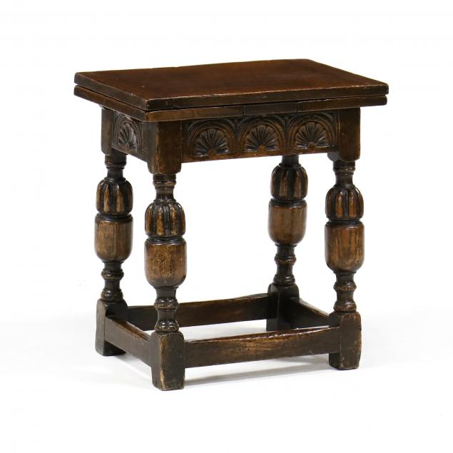 william-and-mary-style-carved-oak-child-s-pub-table