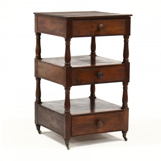 american-sheraton-mahogany-three-drawer-stand