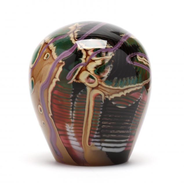 sally-rogers-art-glass-paperweight