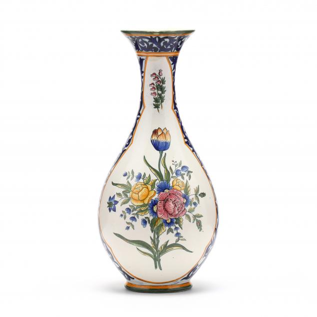 quimper-painted-baluster-vase