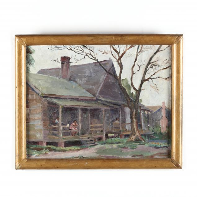 att-irene-roberta-price-nc-1900-1971-mill-houses-with-figures