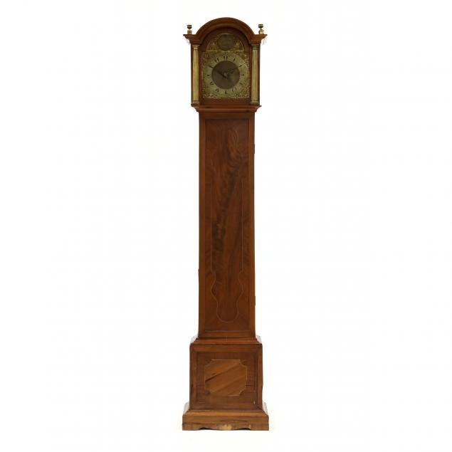 antique-english-inlaid-tall-case-clock