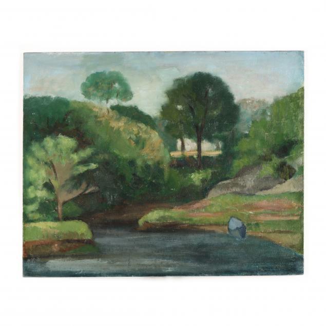 florence-harris-von-schlegell-nc-1894-1972-idyllic-summer-landscape