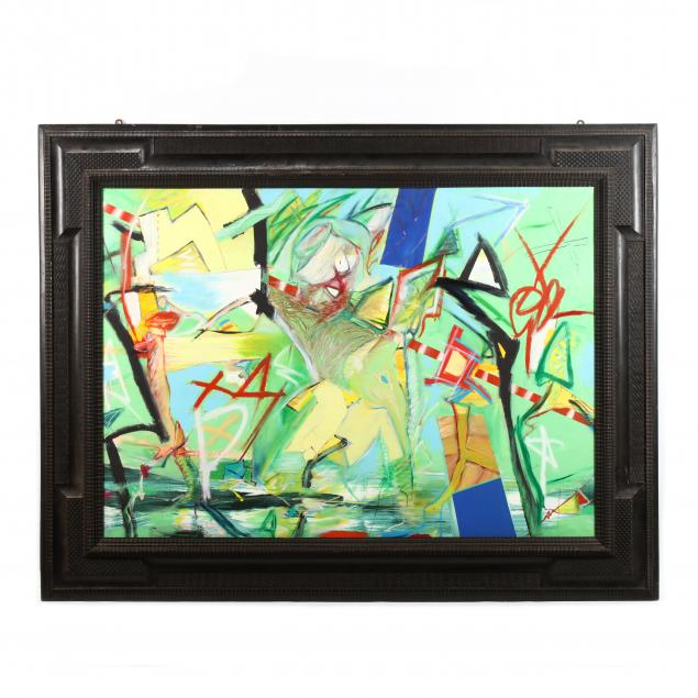 a-contemporary-abstract-painting-in-a-19th-century-dutch-frame