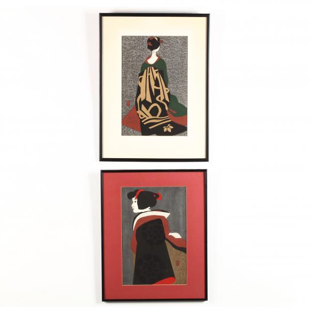 kiyoshi-saito-japanese-1907-1997-two-woodcut-prints-of-maikos