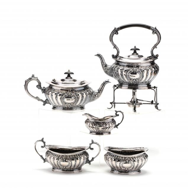 sheffield-five-piece-silverplate-tea-service