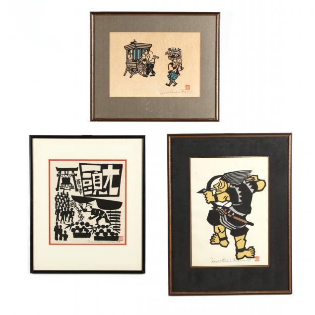 yoshitoshi-mori-1898-1992-three-woodblock-prints