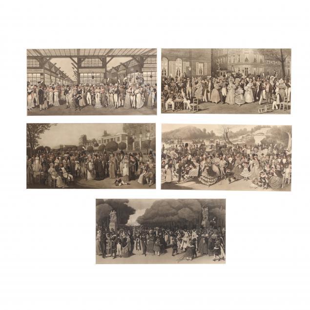 louis-ernest-sahib-lesage-french-1847-1919-five-parisian-scenes