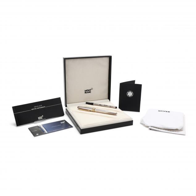 mont-blanc-sterling-silver-meisterstuck-ball-point-pen