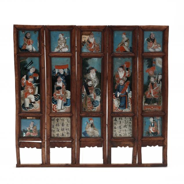 a-chinese-five-panel-table-screen-with-export-reverse-glass-paintings