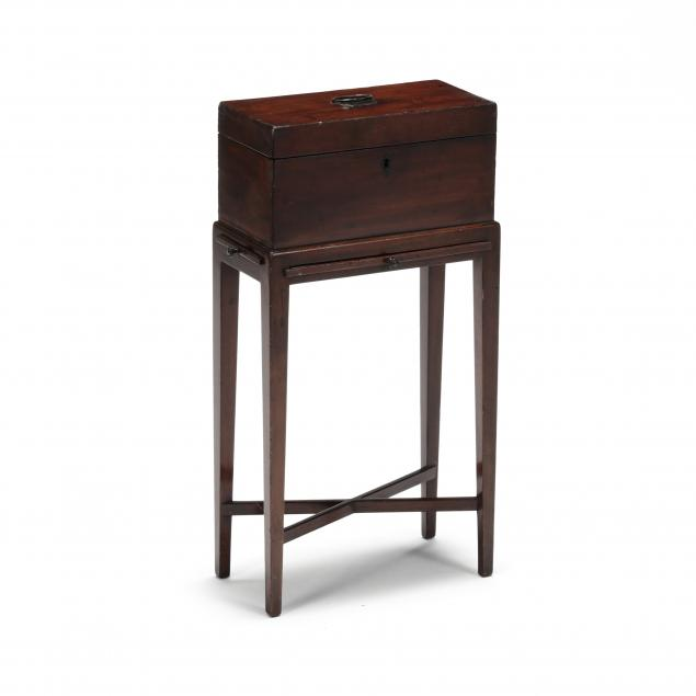 georgian-mahogany-tea-caddy-on-stand