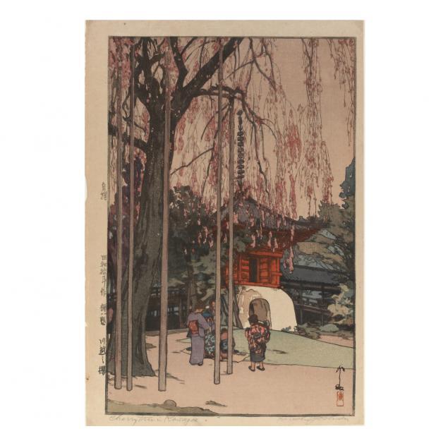 hiroshi-yoshida-japanese-1876-1950-i-cherry-tree-in-kawagoe-i