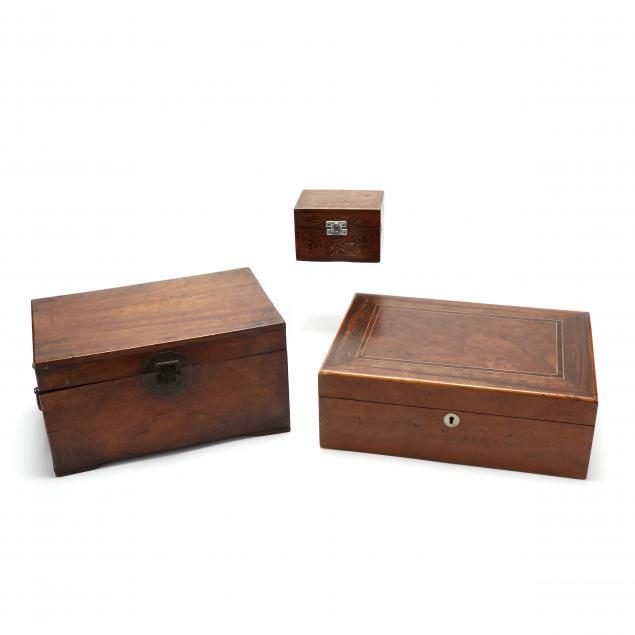three-antique-boxes