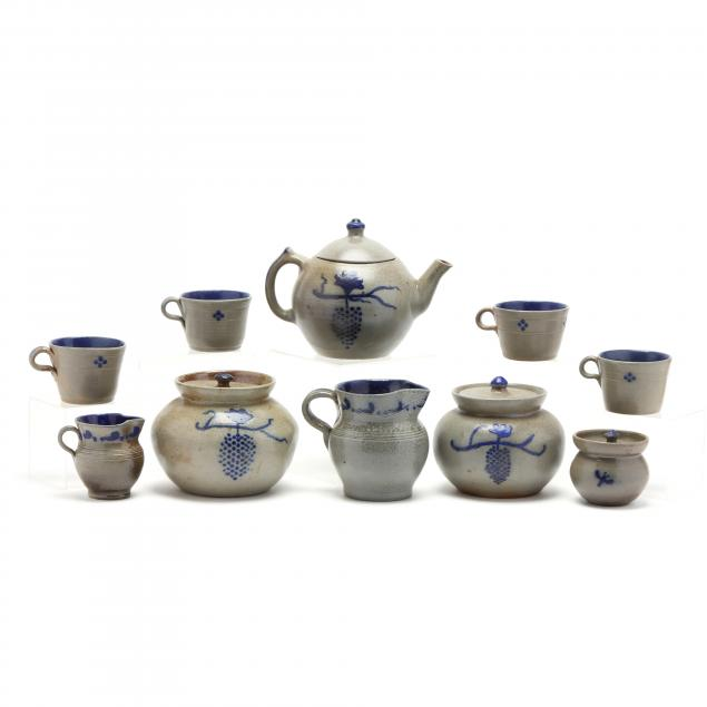 nc-pottery-a-ben-owen-master-potter-tea-service-of-ten-pieces