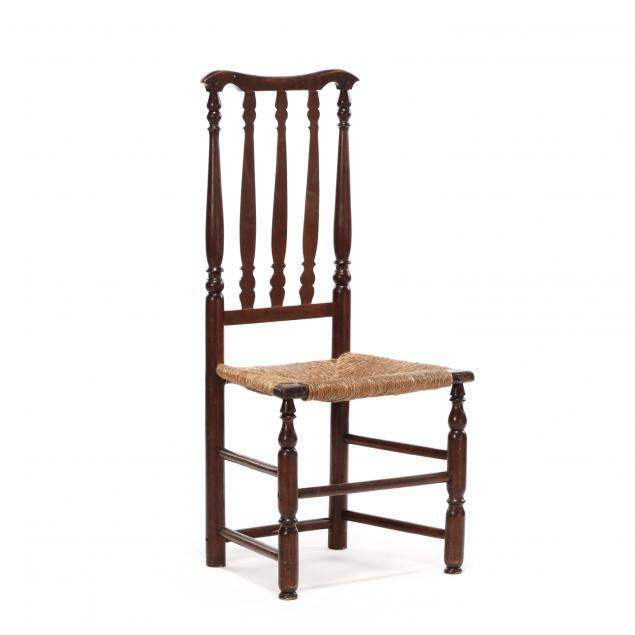 new-england-william-and-mary-cherry-bannister-back-side-chair