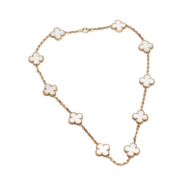 vintage-18kt-gold-and-mother-of-pearl-alhambra-necklace-van-cleef-arpels