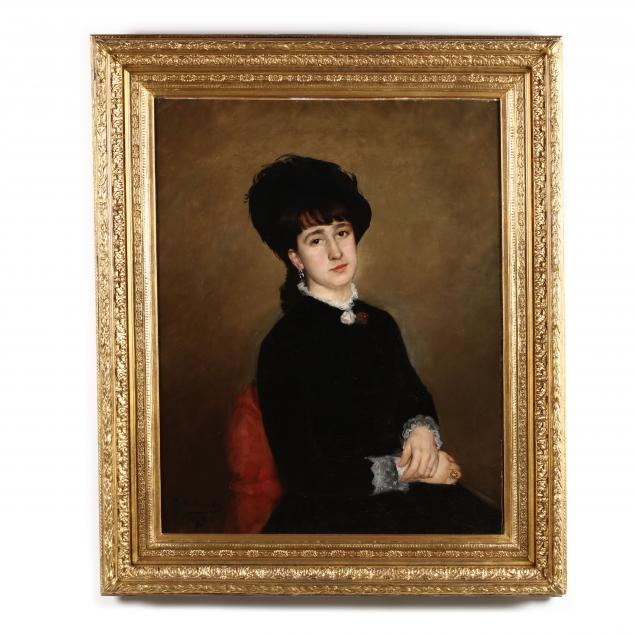 gustave-krabansky-french-1852-1903-portrait-of-a-woman-in-black