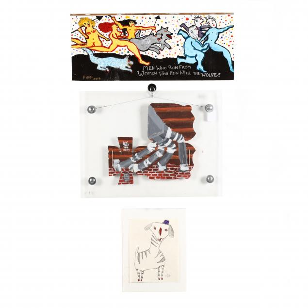 three-contemporary-folk-art-paintings