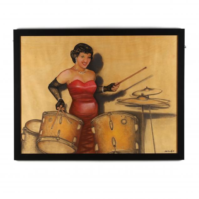 robin-heidi-kennedy-b-1956-woman-with-drums