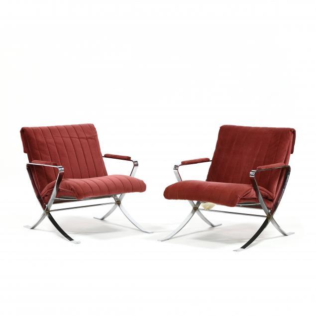pair-of-mid-century-chrome-armchairs