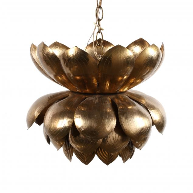 att-feldman-vintage-brass-lotus-hanging-light
