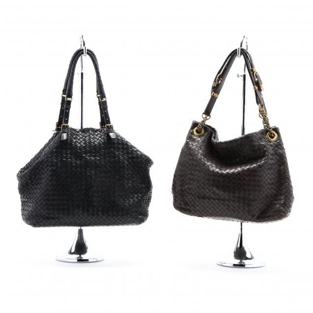 two-vintage-bottega-veneta-vintage-handbags