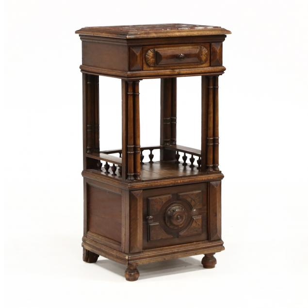 continental-walnut-marble-top-stand