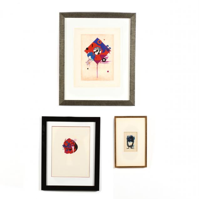 hodaka-yoshida-japanese-1926-1995-three-woodblock-prints