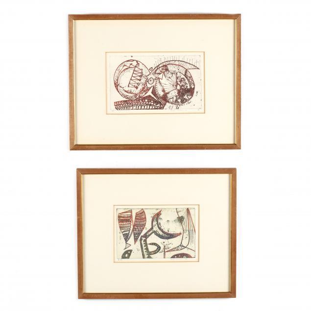kenji-ushiku-japanese-b-1922-two-etchings