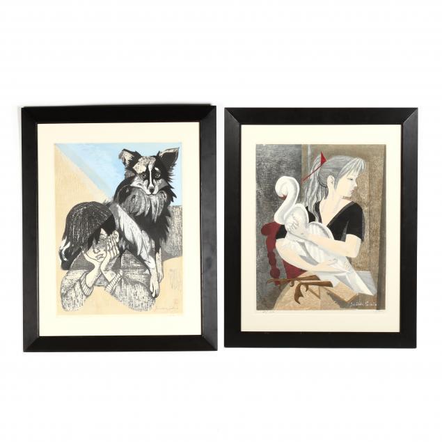 junichiro-sekino-japanese-1914-1988-two-woodblock-prints