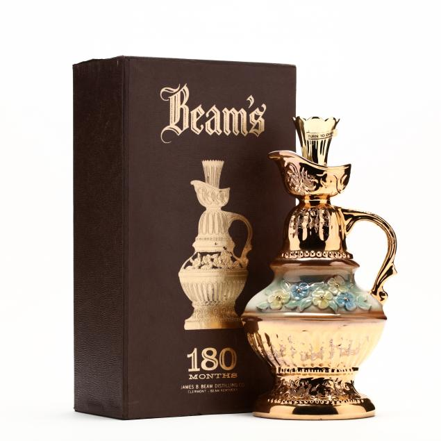jim-beam-whiskey-in-gold-floral-decanter