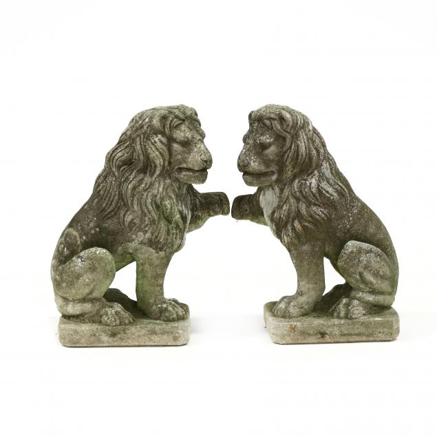 pair-of-vintage-cast-stone-lions