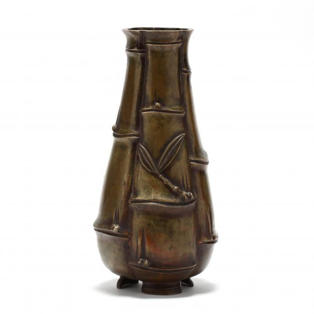 a-japanese-bronze-bamboo-style-vase