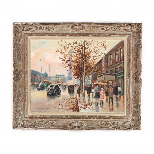 vincenzo-fioravanti-italian-20th-century-parisian-street-scene