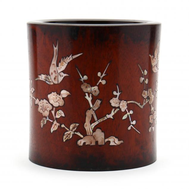 a-chinese-wooden-brush-pot-with-mother-of-pearl-inlay