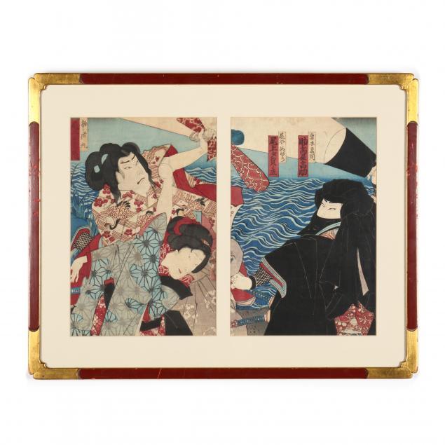 two-japanese-edo-period-woodlbock-prints