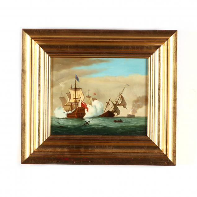 decorative-painting-of-a-maritime-battle-scene