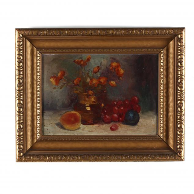 antique-still-life-painting-of-fruit-and-flowers