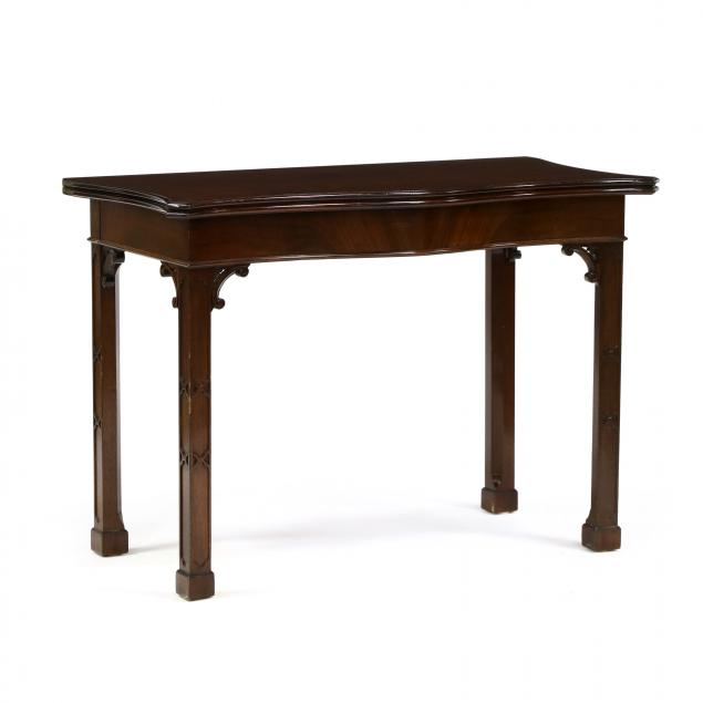 chippendale-style-mahogany-extension-game-table