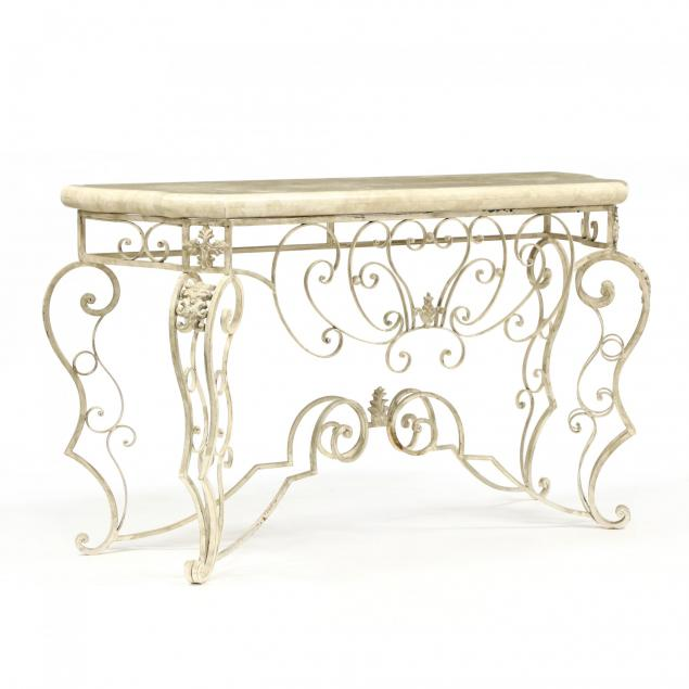 italianate-contemporary-stone-top-iron-console-table