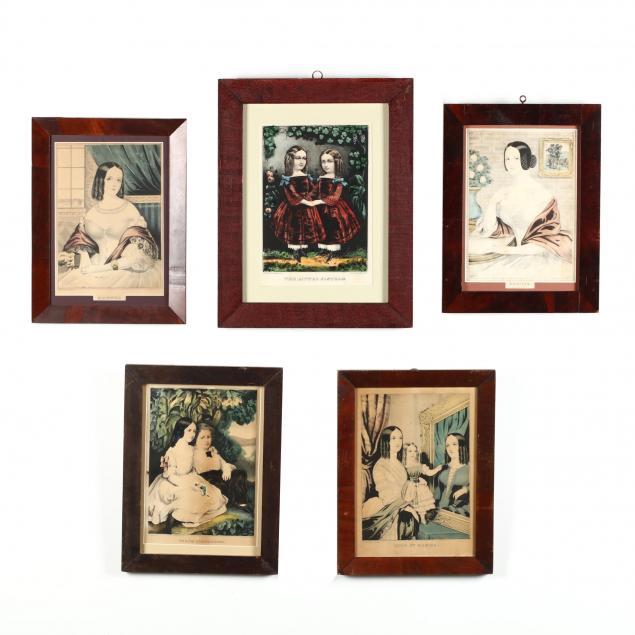 five-currier-ives-portrait-prints