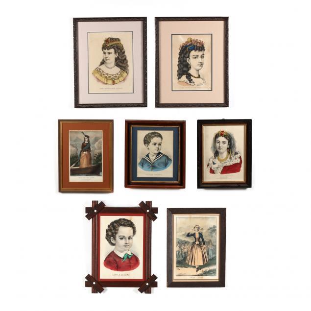 seven-currier-ives-figural-prints