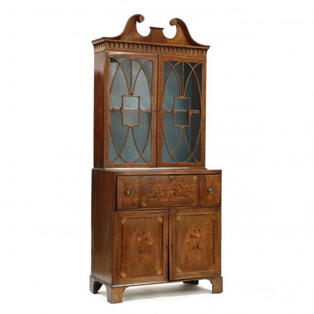 adams-marquetry-inlaid-mahogany-bookcase-butler-s-desk